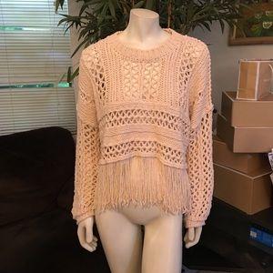 HOST PICK Free People Higher Love Crochet Sweater
